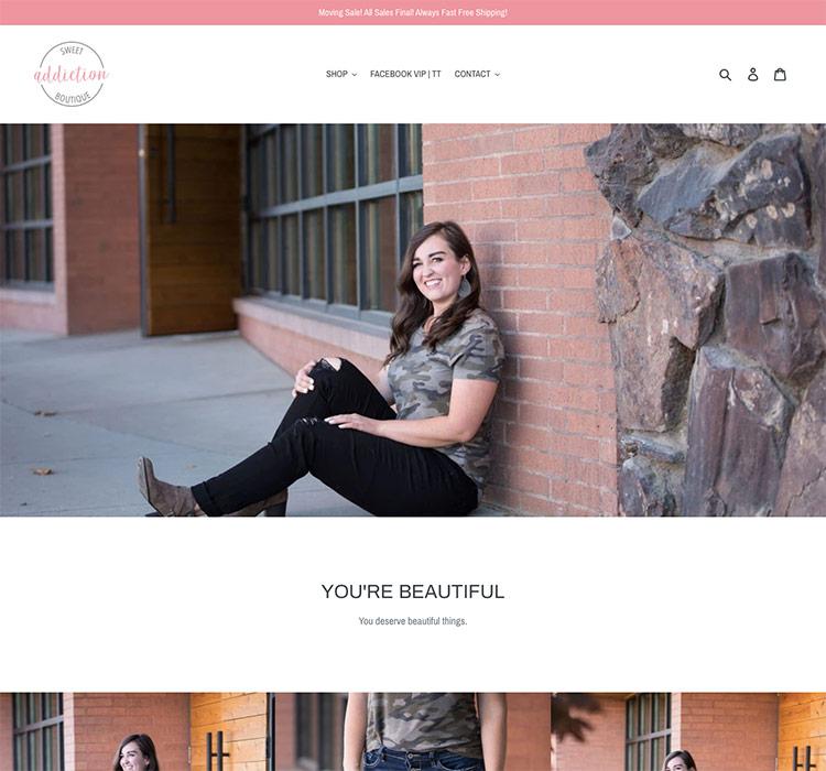 Sweet Addiction - Idaho Falls Web Design