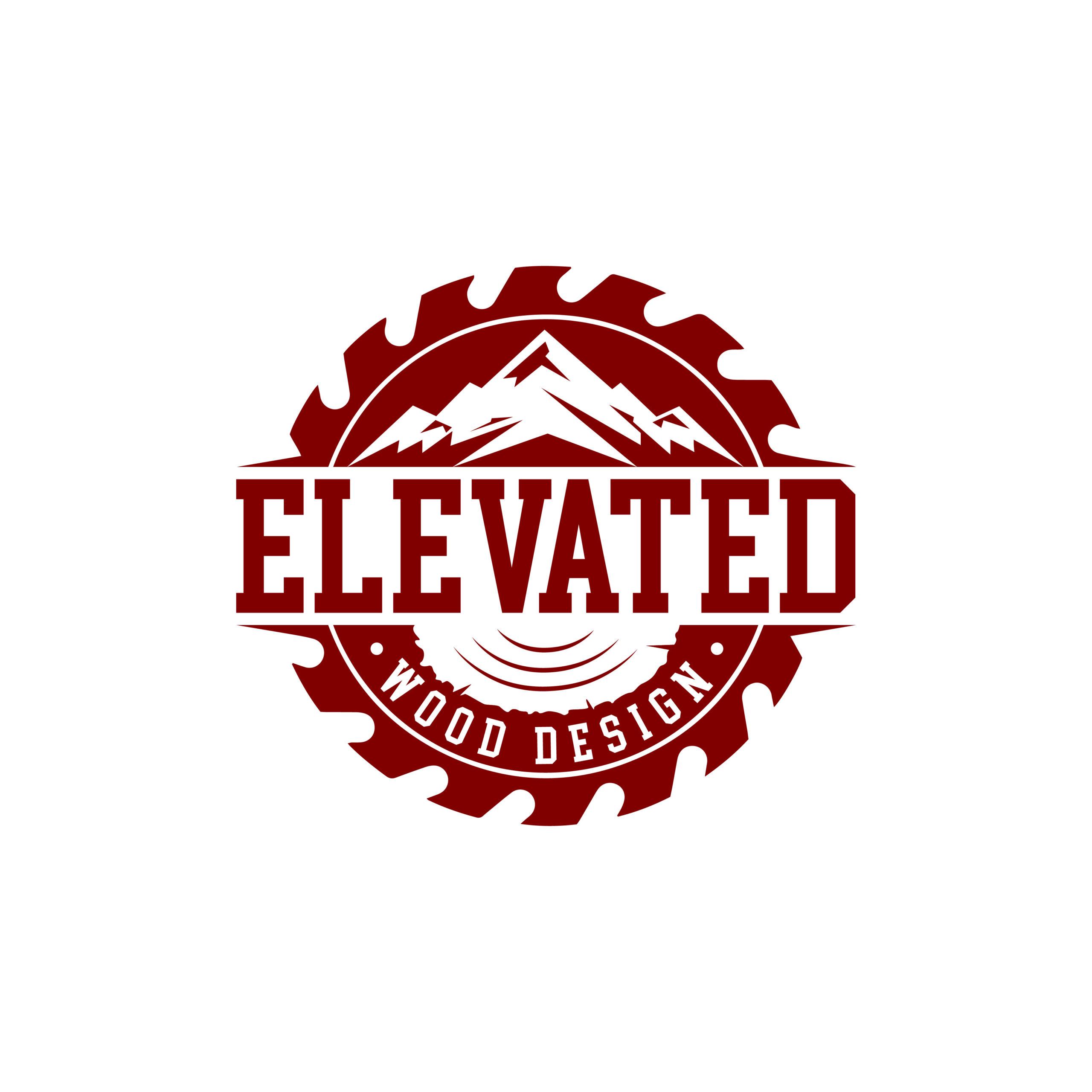 Elevated Wood Design - Idaho Falls Logo Design